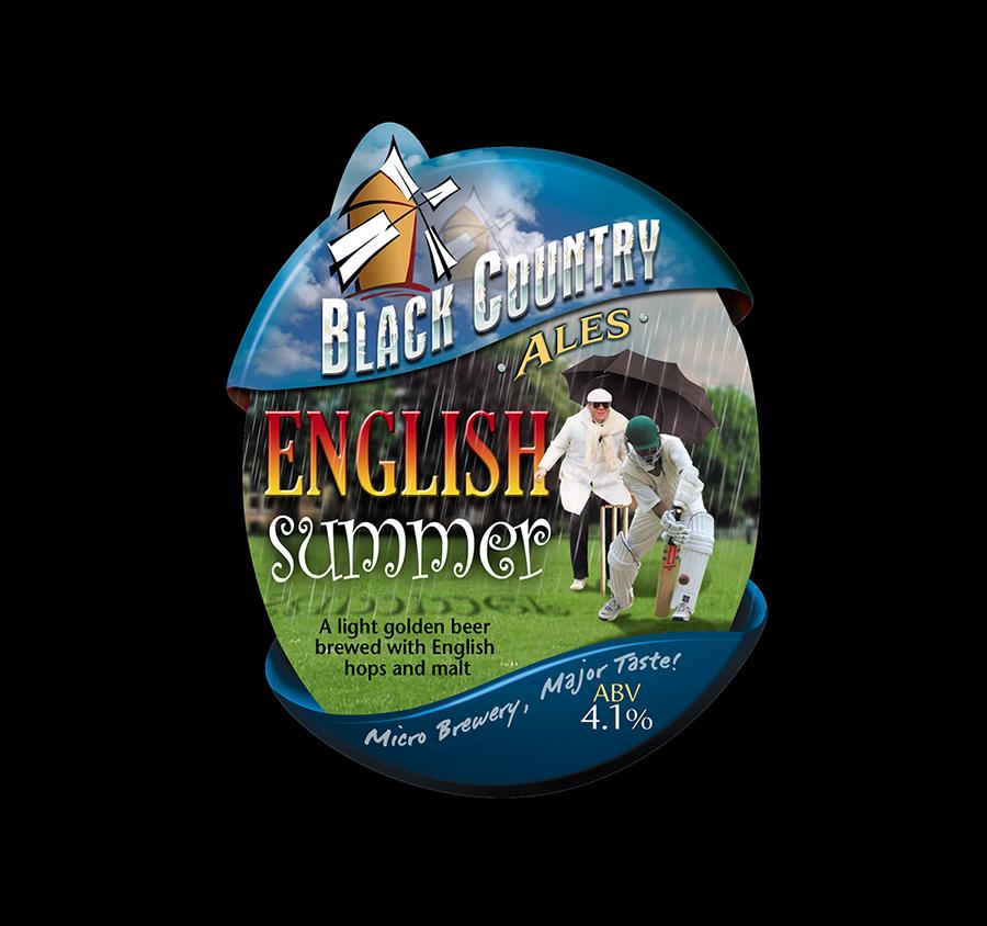 english summer pump clip black country ales