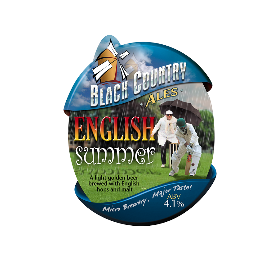 english summer pump clip black country ales