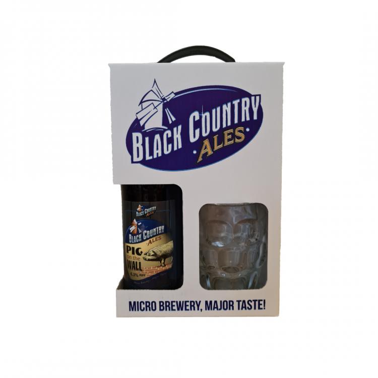 Dimple Tankard Pint Glass & Bottle of Ale